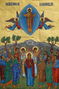 Вознесіння. Mosaic from Neamt Monastery, Romania