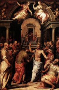 Запевнення апостола Хоми, Giorgio Vasari, 1572