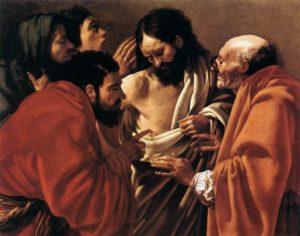 Запевнення апостола Хоми, Hendrick ter Brugghen, 1622
