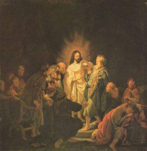 Запевнення апостола Хоми, Рембрандт, 1634,