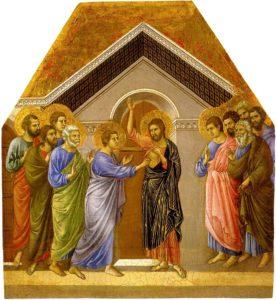 Запевнення апостола Хоми, Duccio, a panel from his Maestà