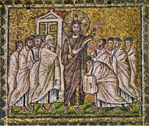 Запевнення апостола Хоми Basilica of Sant' Apollinare Nuovo, Ravenna, коло 520р.