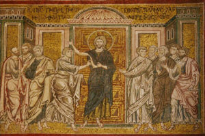 Запевнення апостола Хоми, Mosaic, Cathedral of Monreale, 12th Century