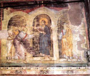 Запевнення апостола Хоми, Cathedral Protata, Athos, 13th Century