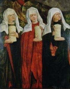 Жінки-мироносиці у гроба, Mikołaj Haberschrack, 15th century