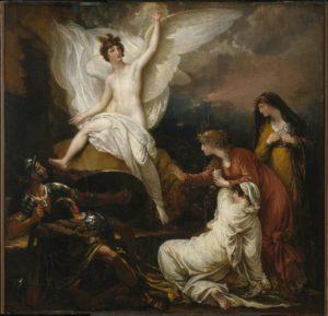 Ангел та жінки-мироносиці у гроба, Benjamin West
