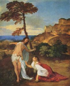 Не торкайся Мене, Titian, 1511–15