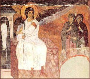 Жінки-мироносиці у гроба, Mileševa monastery in Serbia, 1235.