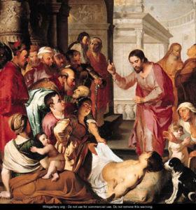 Зцілення розслабленого коло купелі Вифезда, Peter Paul Rubens