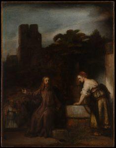 Розмова Христа з Самарянкою, Rembrandt