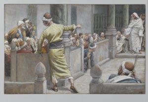 Сліпонароджений перед фарисеями, James Tissot.
