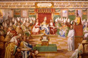 Перший Вселенський Собор, фреска з Сикстинської капелли, Vatican