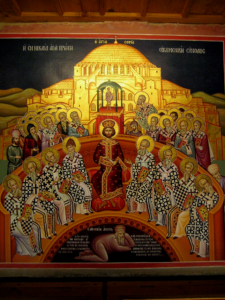 Перший Вселенський Собор, ікона з Mégalo Metéoron Monastery in Greece
