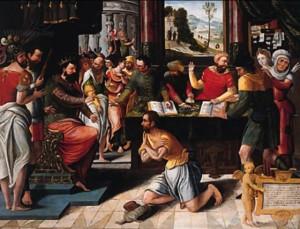 Притча про немилосердного боржника, by Pieter Coecke Van Aelst, 1502-50
