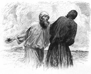 Немилосердний боржник, by Eugene Burnard (1850 – 1921)
