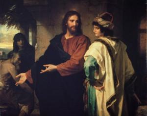 Христос і багатий юнак, by Heinrich Hofmann