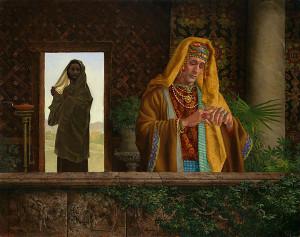 Христос і багатий юнак, by James C. Christensen