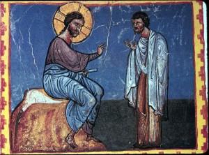 Христос і багатий юнак, вірменська ікона