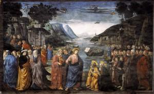 Покликання апостолів. Cappella Sistina, Vatican