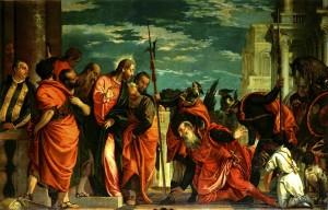 Паоло Веронезе, Капернаумський центуріон перед Христом, 1581-2