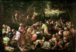 Pent 8-10 Jacopo Bassano. The Feeding of the Five Thousand