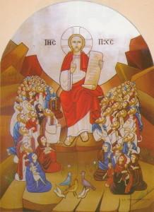 Нагорна проповідь, сучасна Коптська ікона написана монахинями Saint Demiana Monastery, Egypt