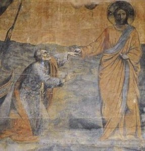 Pent 9-9 La Navicella, Giotto, 1305-13, detail
