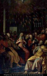 Зшестя Святого Духа, Santi Di Tito, 1598