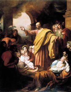 Проповідь апостола Петра, Benjamin West