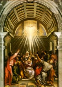 Зшестя Святого Духа, Titian, 1545