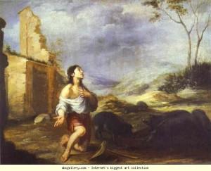 Блудний син годує свиней, Bartolomé Esteban Murillo, 1660