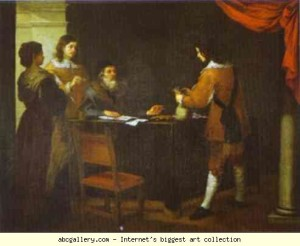 Блудний син отримує частку спадщини, Bartolome Estaban Murillo, 1660