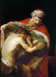 Повернення блудного сина, Pompeo Batoni, 1773
