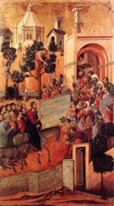 Вхід Господній у Єрусалим, Duccio di Buoninsegna