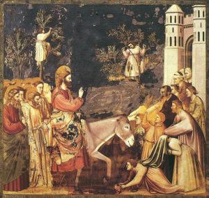Вхід Господній у Єрусалим, Джотто. Капелла Скровеньи, фреска