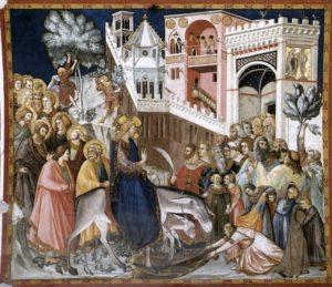 Вхід Господній у Єрусалим, Pietro Lorenzetti, 1320, Fresco