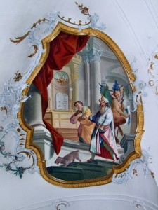 Митар і фарисей, фреска, Ottobeuren Basilica