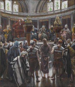 Суд синедриона, James Jacques Tissot