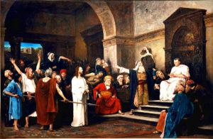 Христос перед Пилатом, Мі́гай Му́нкачі, 1881