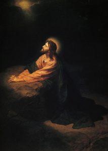 Молитва Христа в Гефсиманському саду, Heinrich Hofmann, 1890.