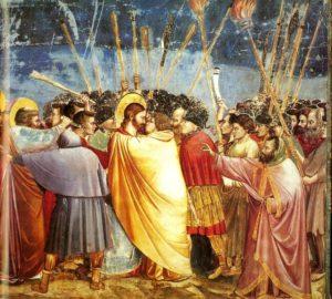 Поцілунок Юди, Giotto, Scrovegni Chapel, Padua, Italy, 1304-6
