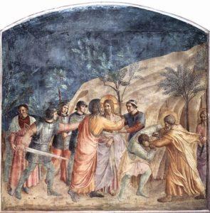 Поцілунок Юди, Fresco by Fra Angelico, San Marco, Florence, 1437–1446
