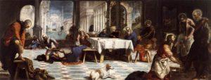 Омовіння ніг апостолів, TINTORETTO, 1556