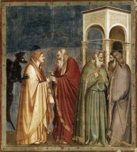 Юда отримує гроші за зраду, Giotto