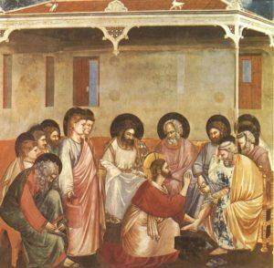 Омовіння ніг апостолу Петру, Джотто, фреска в капеллі Скровеньї, 1304-06