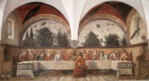 Тайна Вечеря, Domenico Ghirlandaio, 1480