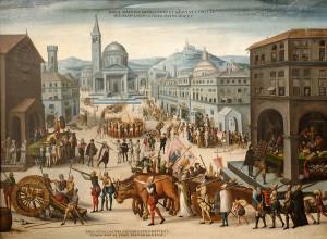 Пограбування церков Ліону кальвіністами у 1562р., Antoine Caron.
