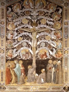 Allegory of the Cross, Taddeo Gaddi, Fresco, 1330's