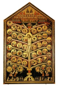 Tree of the Cross, Pacino di Bonaguida, 14th c.