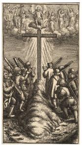 Поклоніння хресту, Wenceslas Hollar, 1607-1677